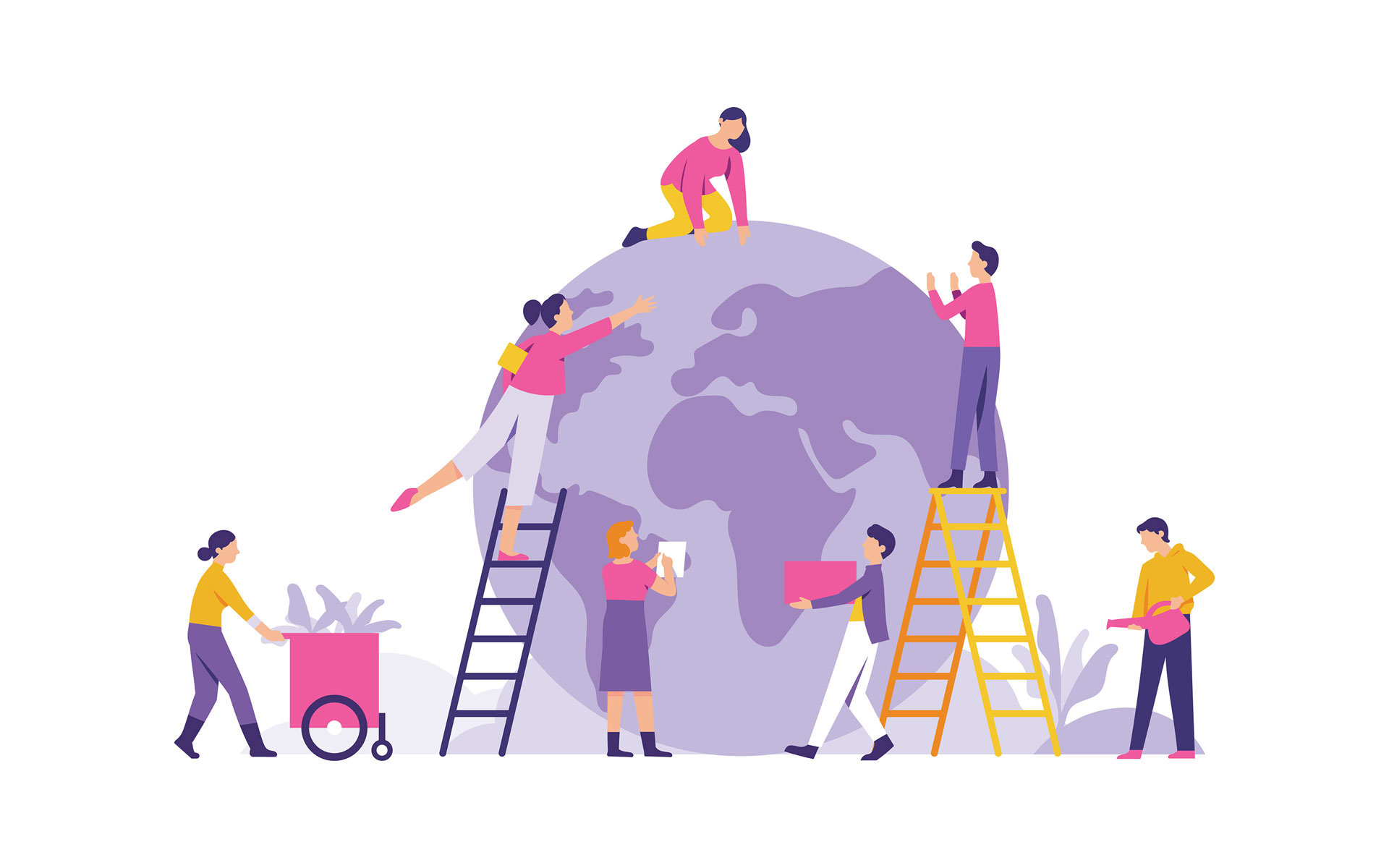 vector-illustration-group-people-prepare-celebrate-earth-day